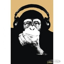 Steez Poster - Munky with Headphone