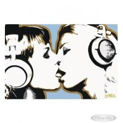 Steez Poster - girls kissing