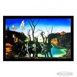 SALVADOR DALI POSTER - REFLECTIONS OF ELEPHANTS