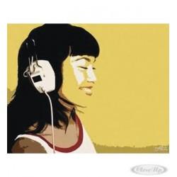 STEEZ: DJ GIRL Kopfhörer Kunstdruck